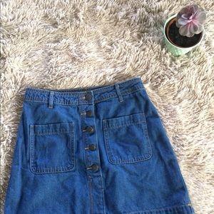 Old Navy Denim Button-Down Skirt